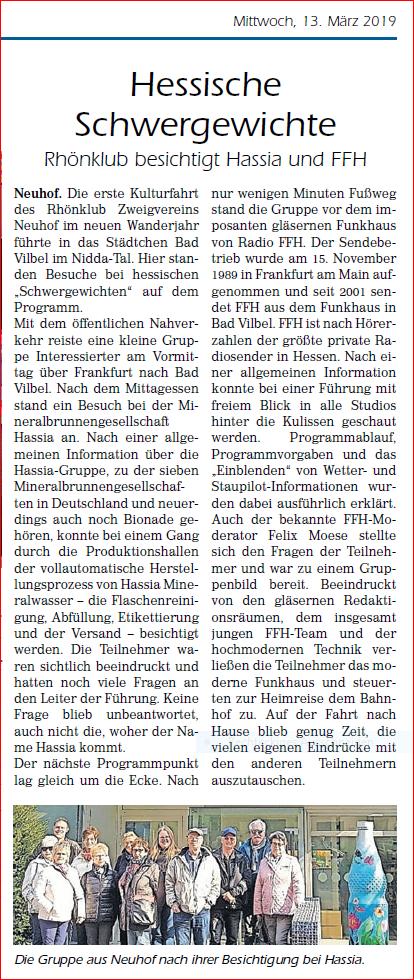 Bericht Fuldaer Landbote